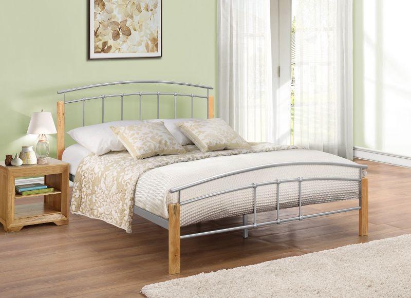 Tetras Metal Bed Oak Furniture Uk