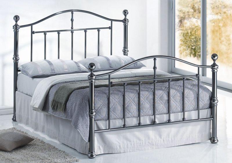 Victoria Metal Bed Oak Furniture Uk