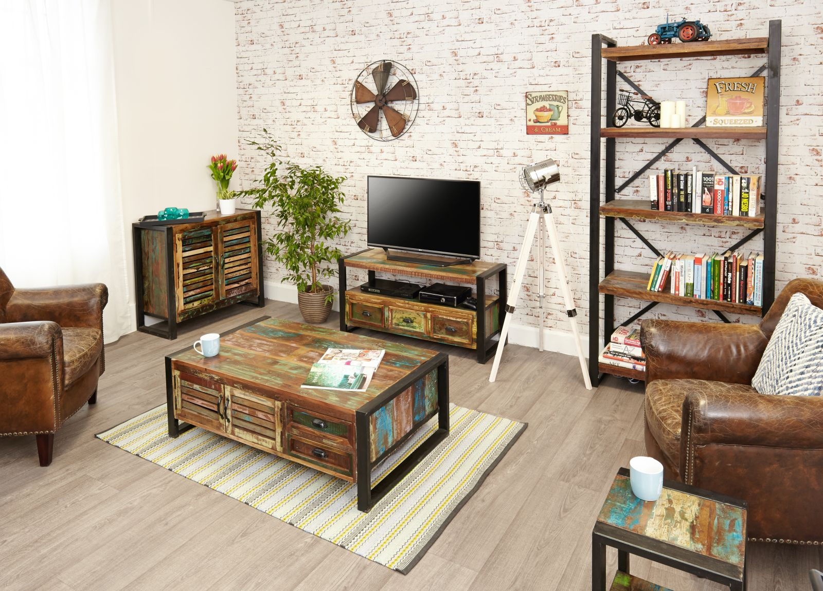Four Reasons To Enhance Your Interiors With Reclaimed Wood Furniture Oak Furniture Uk